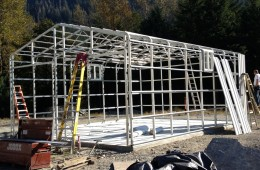 Metal Building Framing at Mount Seymour, North Vancouver, BC