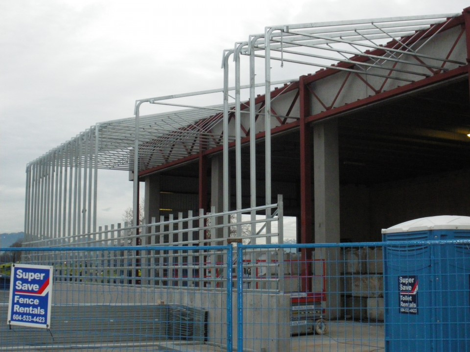 Steel Addition to Existing Salt Bin Building, Vancouver, BC