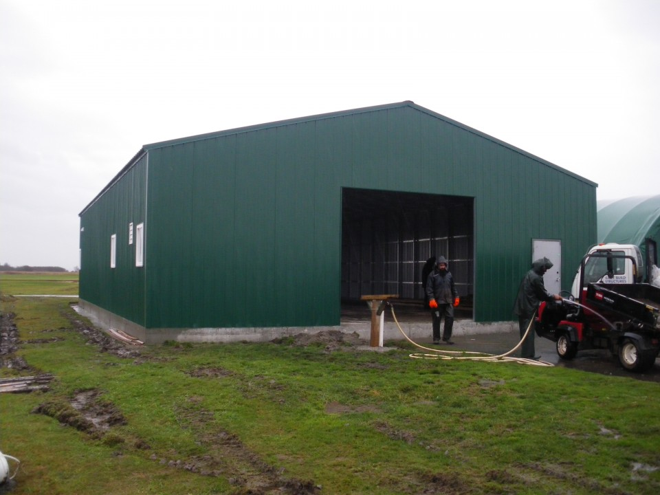 Large Steel Maintenance Building at Golf Course, Richmond, BC
