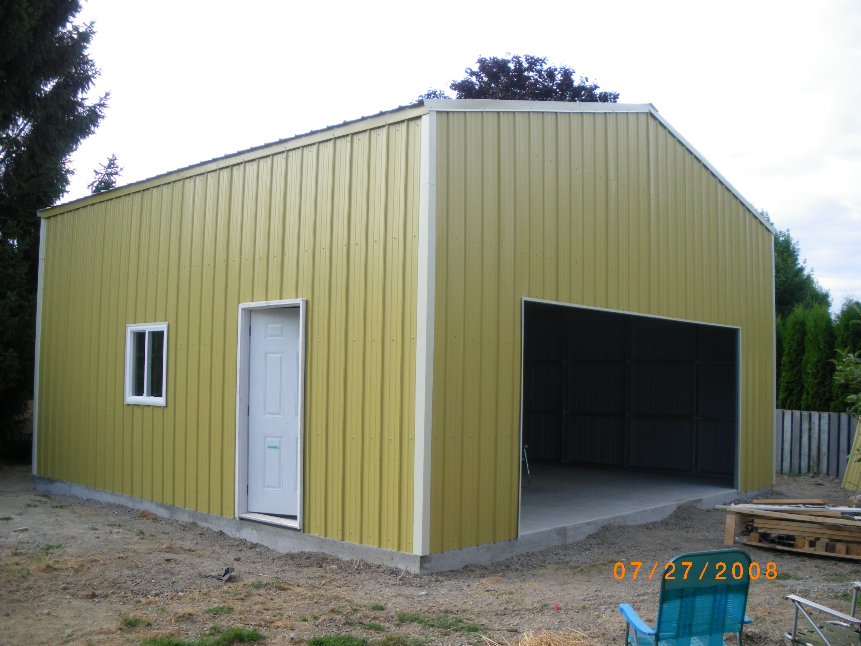 photo gallery of metal and steel building construction projects