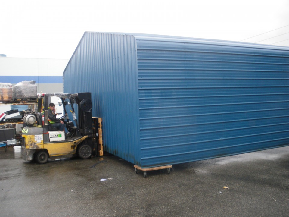 Moving of Steel Warehouse Building, Coquitlam, BC