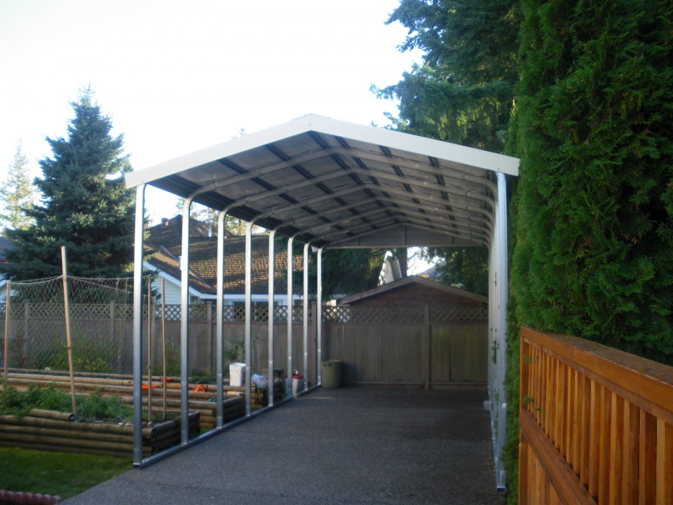 Metal Boat Cover and Metal Carport in Surrey, BC