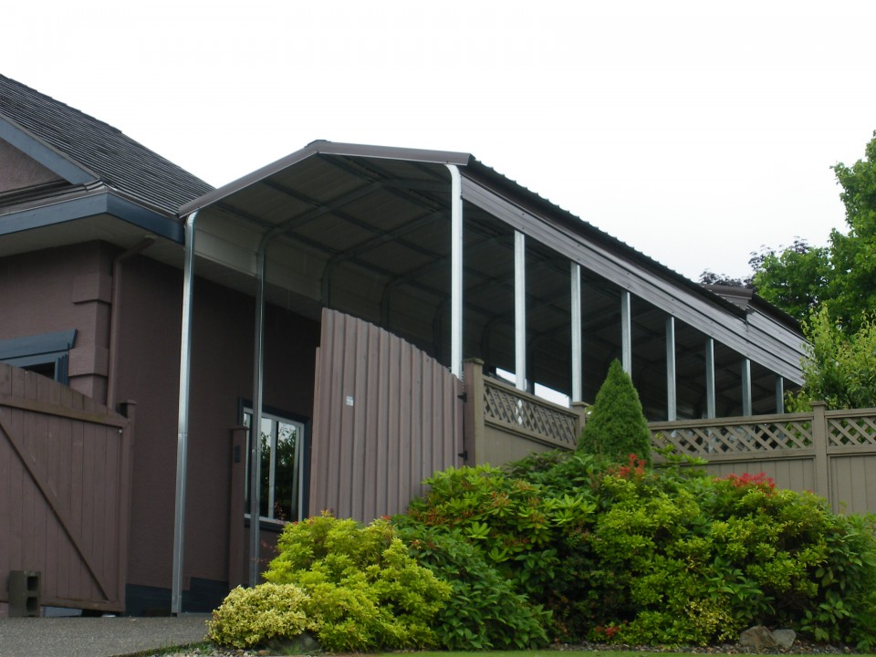 Sheet Metal Trailer Cover and Metal Carport, Surrey, BC